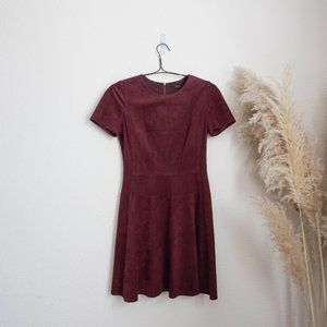 BCBG Purple Darra Suede A-line dress